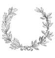 laurel and oak wreath vector image