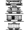 Train Car Collection vector image