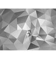 Triangle background Gray polygons vector image