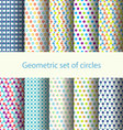 Geometric set of circles vector image