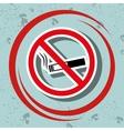 cigarette prohibited danger icon vector image