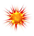 comic firebomb explosion vector image