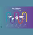 5 steps business infographic timeline design vector image vector image