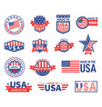 american labels made in usa seal badges design vector image