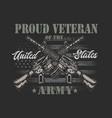 american veteran graphic vector image vector image