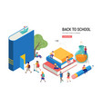 back to school books education and research vector image vector image