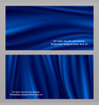 blue silk fabric banners templates vector image vector image