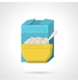 Breakfast cereal flat color icon vector image vector image