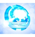bright tech background vector image vector image