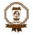 brown border heraldic decorative ribbon with glass vector image vector image