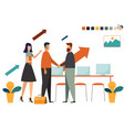 business people hands shake for corporate to vector image vector image