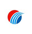 business round swoosh arrow finance logo