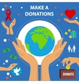 Charity Flat Poster vector image vector image