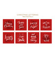 christmas and new year posters and labels vector image vector image