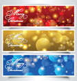 Christmas headers vector image vector image
