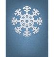 Christmas origami snowflake EPS8 vector image vector image