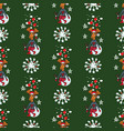 christmas reindeer seamless pattern background vector image vector image