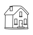 classic house facade chimney icon thick line vector image vector image