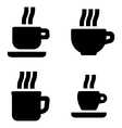 Coffee cup signs vector image