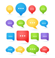 Color abstract speech cloud templates