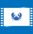 crab flat icon vector image