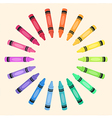 Crayons Circle Rainbow Color Frame vector image vector image