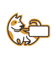 cute dog character icon with place for text vector image