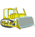 drawn excavator on white vector image vector image