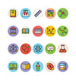 Education Colored Icons 1 vector image vector image