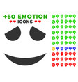 embarassed smile icon with bonus avatar clipart vector image vector image