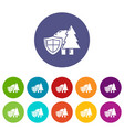 environment protection icons set color vector image