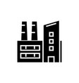 factory - industrial plant icon vector image