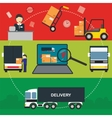 flat banners set logistic process vector image