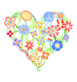 Funny greeting hearts vector image