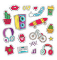 hipster patch badges vector image vector image