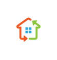 house renewable arrow technology logo vector image