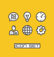 icons set business office vector image vector image