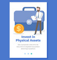 invest in physical assets concept man vector image
