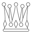kingly crown icon outline style vector image vector image