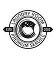 laundry emblem with washing machine drum vector image vector image