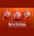 merry christmas tree balls concept banner vector image