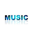 music logo abstract color word art vector image vector image