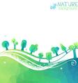Nature geometric background vector image