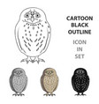 owlanimals single icon in cartoon style vector image