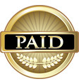 paid gold icon vector image vector image