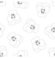 pansy flower white background outline vector image vector image