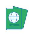 passport document id to international travel vector image