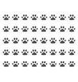 paw background template vector image