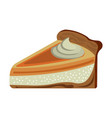 pumpkin pie icon cartoon thanksgiving day vector image