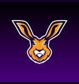 rabbit gaming mascot or twitch vector image